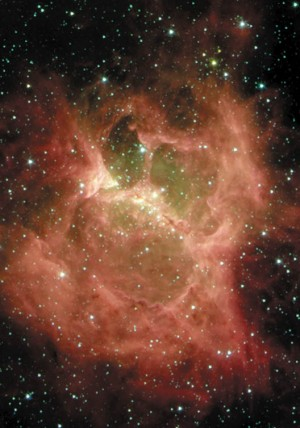 무시무시한 귀신의 얼굴을 닮은 성운 'DR6'. 성운 안에서 태어난 별들이 강한 열을 주변으로 뿜어내면서 빚어낸 모습이다. - NASA 제공